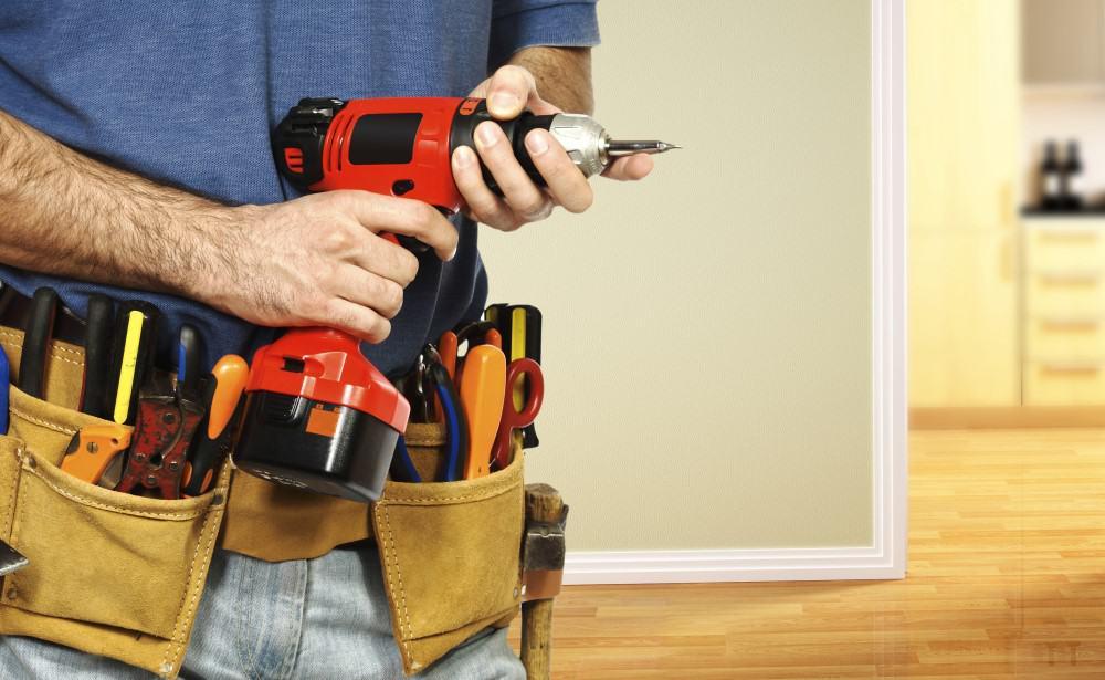 Handyman klar til at arbejde